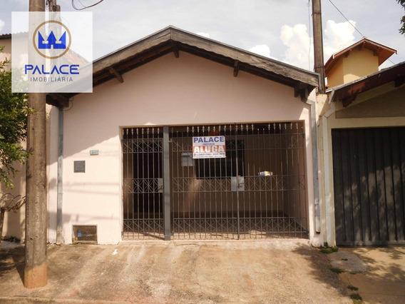 Casa Com 2 Dormitórios Para Alugar, 80 M² Por R$ 850,00/mês - Loteamento Santa Rosa - Piracicaba/sp - Ca0006
