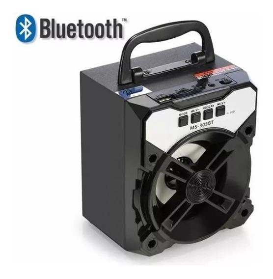 Caixa De Som Portátil Bluetooth Ms-305bt - Cores Sortidas