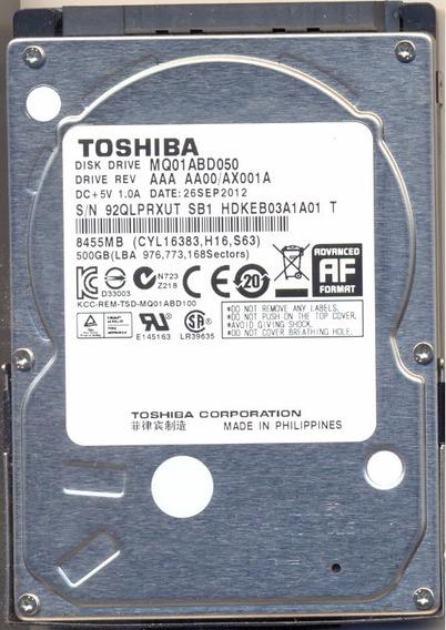 Hd Notebook Toshiba Sata 500gb Modelo Mq01abd050