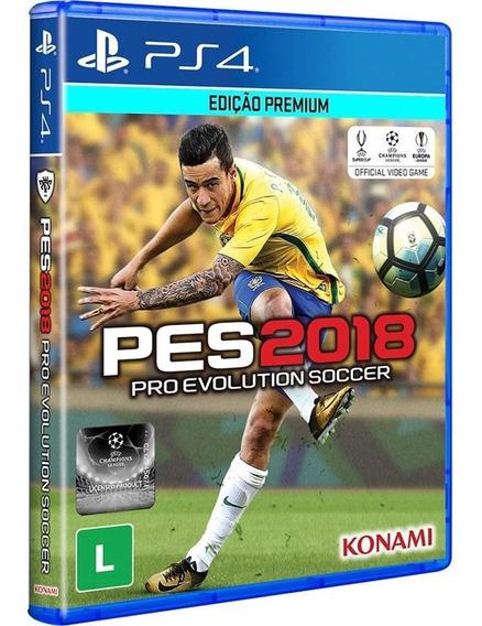 Pes Pro Evolution 2018 Ps4 Disco Fisico Cd Original Futebol