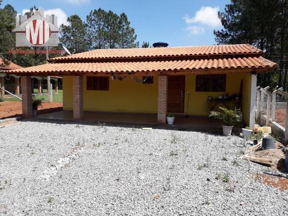 Chácara Plana, Ótima Localização, 01 Dormitório À Venda, 1000 M² Por R$ 160.000 - Zona Rural - Pinhalzinho/sp - Ch0535