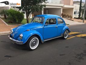 Volkswagen Fusca Azul Relíquia - Ano 1975 - Johnnybus