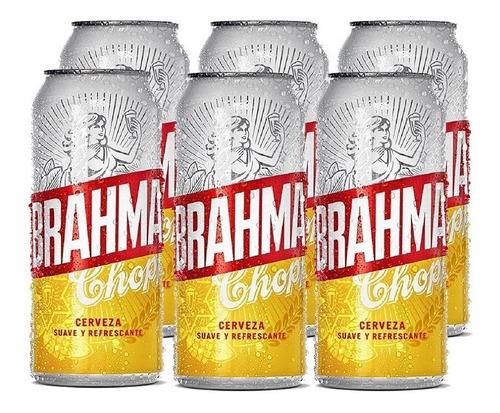 Imagen 1 de 10 de Brahma Chopp . Cerveza . 473ml X 6 - Tomate Algo® -