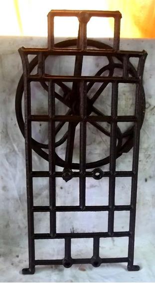 Lateral Pé Máquina Costura Com Roda Da Correia Antiga