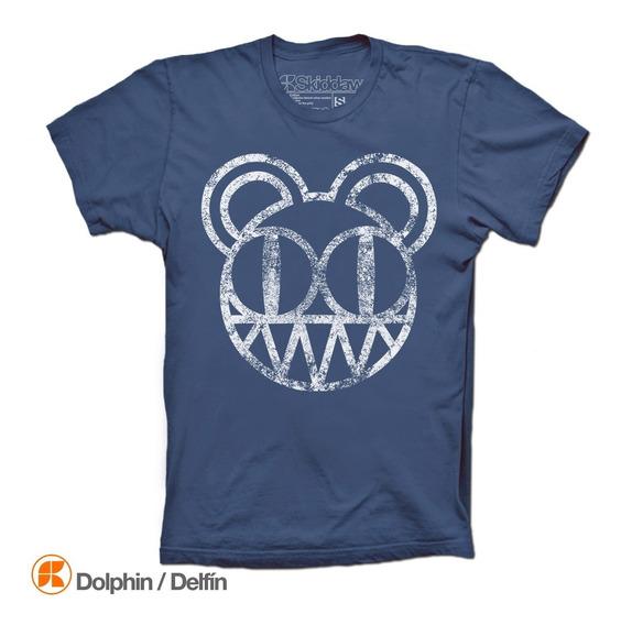 Radiohead Playeras Kid A Distressed Bear Camiseta
