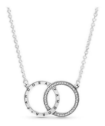Pandora Original Collar Círculos Entrelazados S925 Ale