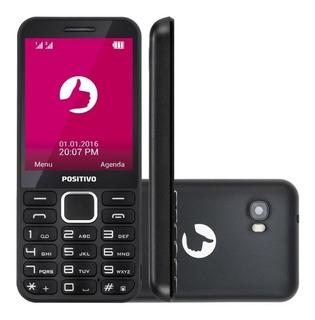 Telefone Simples Para Idosos Positivo P28 Câmera, Rádio Fm, Mp3, Dual Chip Original Com 01 Ano De Garantia Conexão 2g