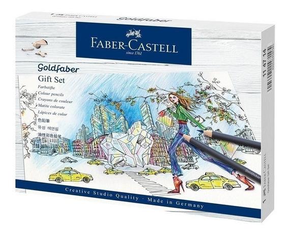 Faber Castell Set Para Dibujo 22 Piezas Lápices Color