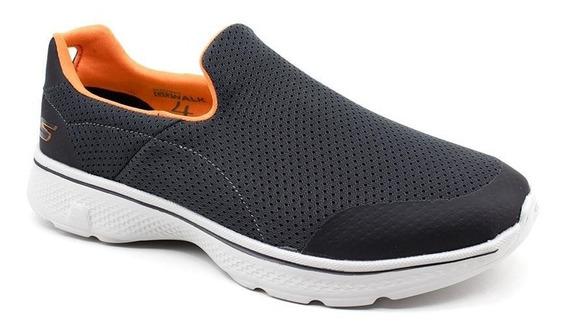 Tênis Skechers Go Walk 4 54152 Cinza Loja Pixolé
