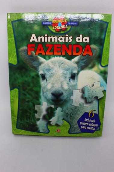 Livro Animais Da Fazenda Inclui Seis Quebra-cabeças Para ...