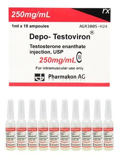 Depo Testoviron Testosterona Enanthate 250 Mg 10 Ampollas