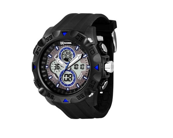 Relógio Analógico Digital Masculino Preto E Azul X-games