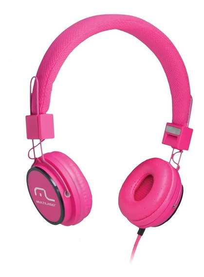 Fone De Ouvido Headphone Fun Rosa - Original