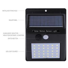 Kit 2 Lâmpadas Luz Solar-luminária Sensor Presença