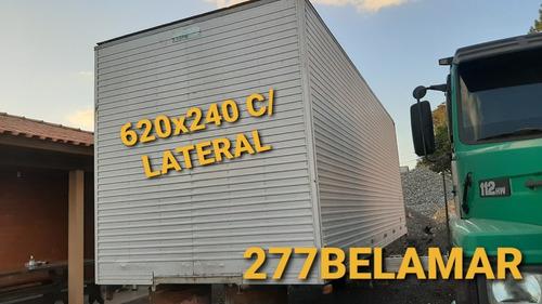 Baú 620x240 Com Porta Lateral Caminhão 3/4