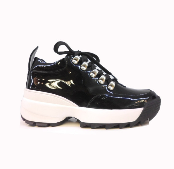 Zapatillas Mujer Plataforma Cuero Moda Balen Sneakers Rimini