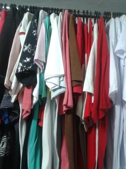 Lote Com 10 Camisetas Masculinas Usadas