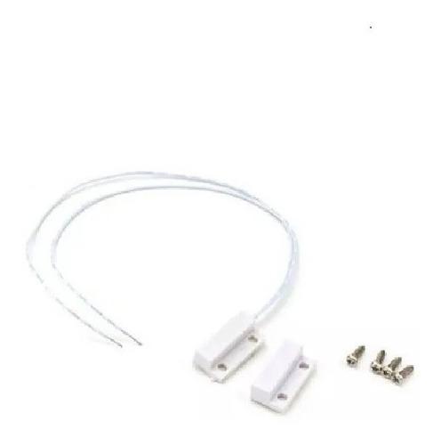 Sensor Magnetico Plastico Superficial Puerta Ventana Blanco