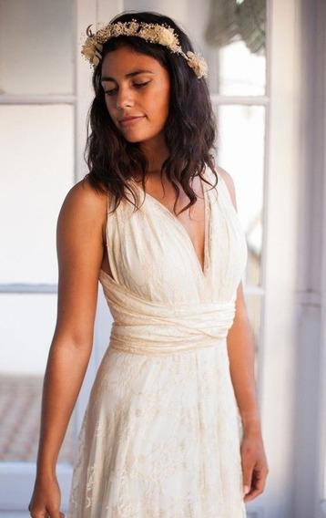 Vestido De Novia De Playa Vestido De Encaje Vestido Blanco