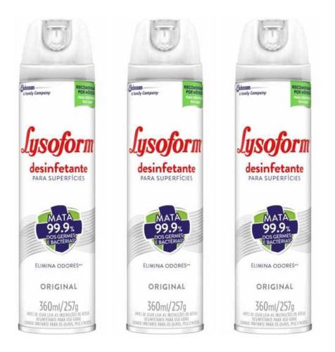 Lysoform Desinfetante Original 360ml (kit C/03)