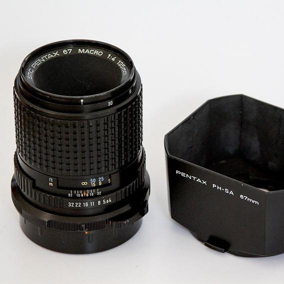 Lente Pentax 67 Macro 135mm F/4 + Parasol C/ Case Original