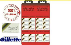 Lâminas Wilkinson Barbear Aço Gillette 1 Cartela C/60 Unid