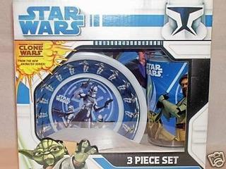 Juegos De Vajilla,star Wars Clone Wars 3 Piezas De Vajil..