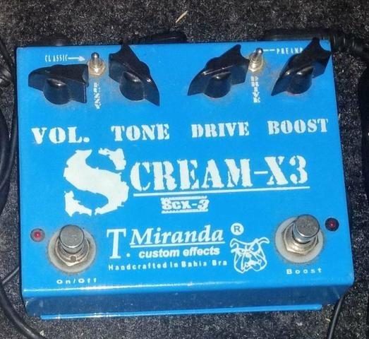 Pedal Tmiranda Scream X3 Overdrive Booster