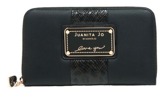 Billetera Juanita Jo Thick ( Negro - 30052 )