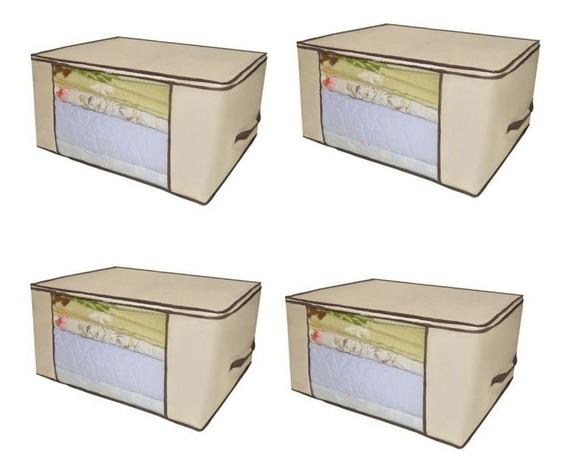 Kit 8 Porta Tudo 60x45x30 Guarda Roupa Edredom Cobertor
