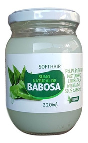 Softhair Sumo Natural De Babosa Polpa Para Misturinhas 220ml