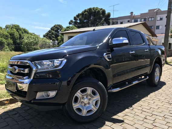 Ford Ranger 2.5 Xlt Cd 2017 Preto Flex