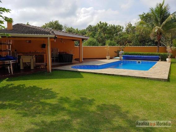 Linda Casa Térrea Plana E Reformada Em Condomínio, 1000 M², 03 Suítes, Piscina, Quintal Gramado, 04 Vagas (02 Cobertas) Na Granja Viana - Ca1200