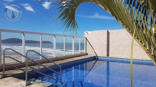 Imagem 1 de 14 de Apartamento 1 Suíte - 64 M² - Prédio Frente Mar - R$ 329.900 - Aviação - Praia Grande/sp - Ap0019