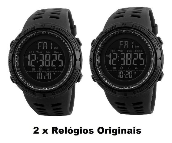 Combo 2 Relógios Masculinos Skmei 1251 A Prova Dagua Kit 2 Relogios Digital Originais