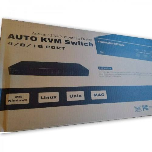 Chaveador Kvm 8 Portas Usb/ps2 Osd 1920x1440 Muc81 C/ Cabos
