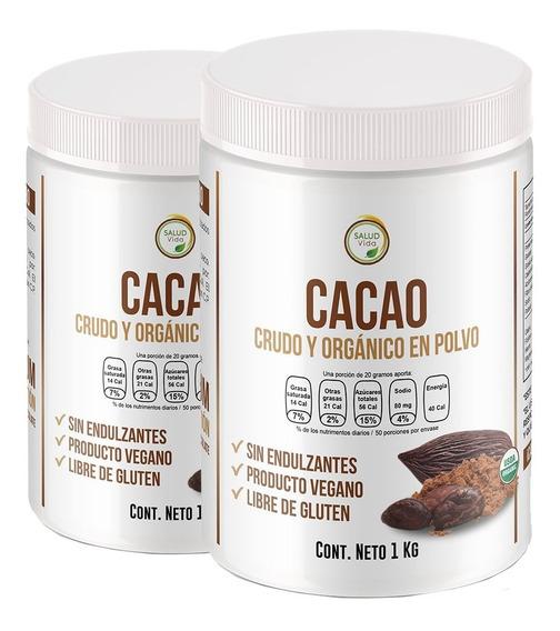Cacao Orgánico Premium En Polvo, 2 Kgs. Envío Gratis Crudo