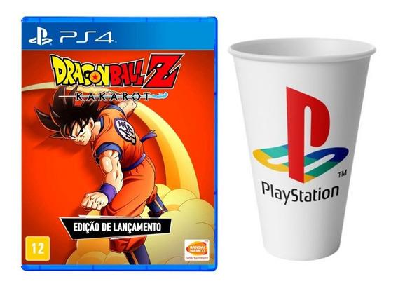 Dragon Ball Z Kakarot + Copo Ps4 Mídia Física Lacrado