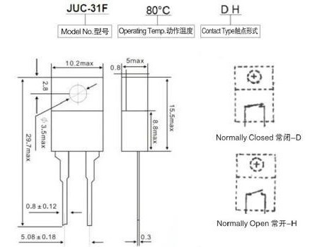 Thermostato Juc31f-embalagem 05 Pecas