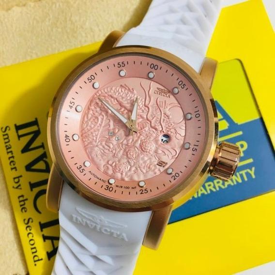Relógio Invicta Yakusa S1 Branca C/ Rose