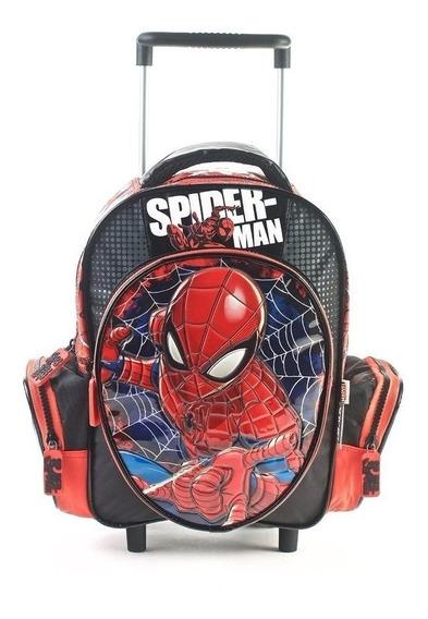 Mochila Carrito Spiderman 12 Pulgadas Mmk 82366