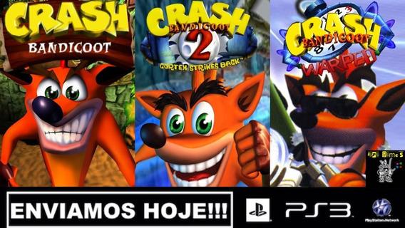 Crash Bandicoot 1,2,3 Jogos Ps3 Psn Original Receba Hoje