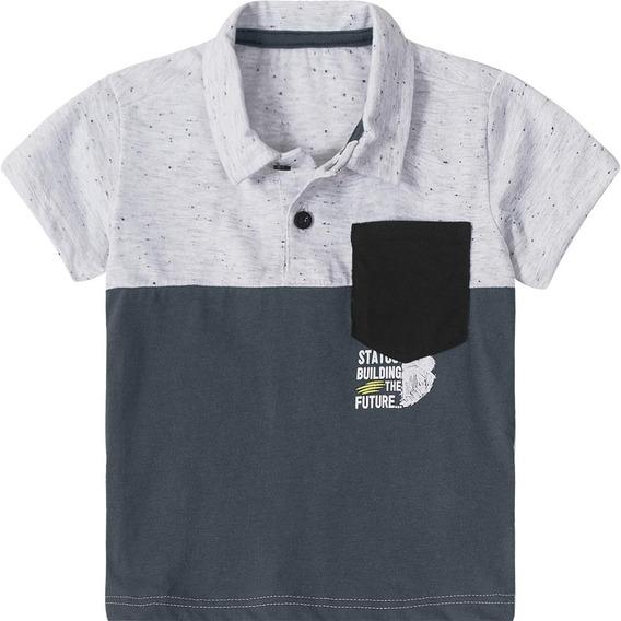 Camisa Polo Tigor T. Tigre Cinza Bebê Menino