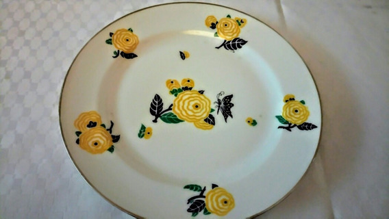 Plato Decorativo Antiguo Limoges