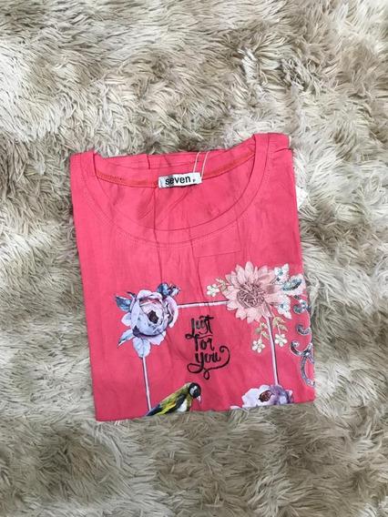 Blusa T-shirt Feminina Estampas Flors Artesanal Importardo