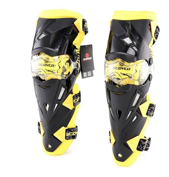 Rodilleras Articuladas Motocross Enduro Mx K12 Scoyco Top Ra