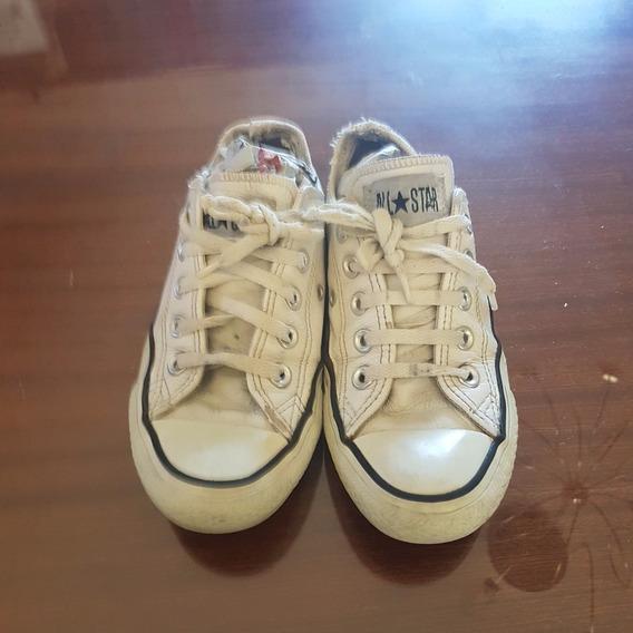 Zapatillas De Cuero Converse Nro 34