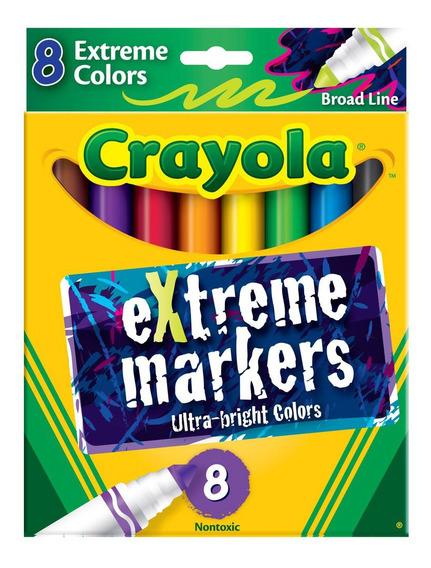 Marcadores Colores Extremos Con Trazo Grueso Crayola X8