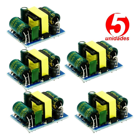 5x Mini Fonte 12v 400ma Conversor Ac-dc Esp8266, Automação