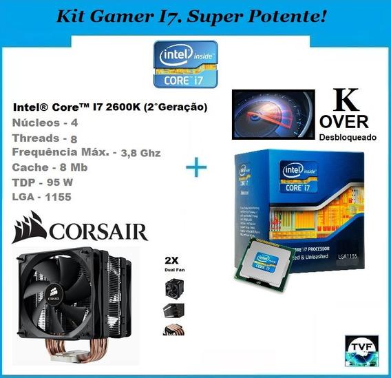 Kit Gamer Processador Intel I7 2600k + Cooler Corsair A70